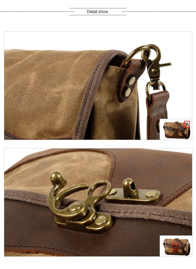 Túi xách Vintage vải canvas sáp dầu, da bò sáp - BUTTERFLY