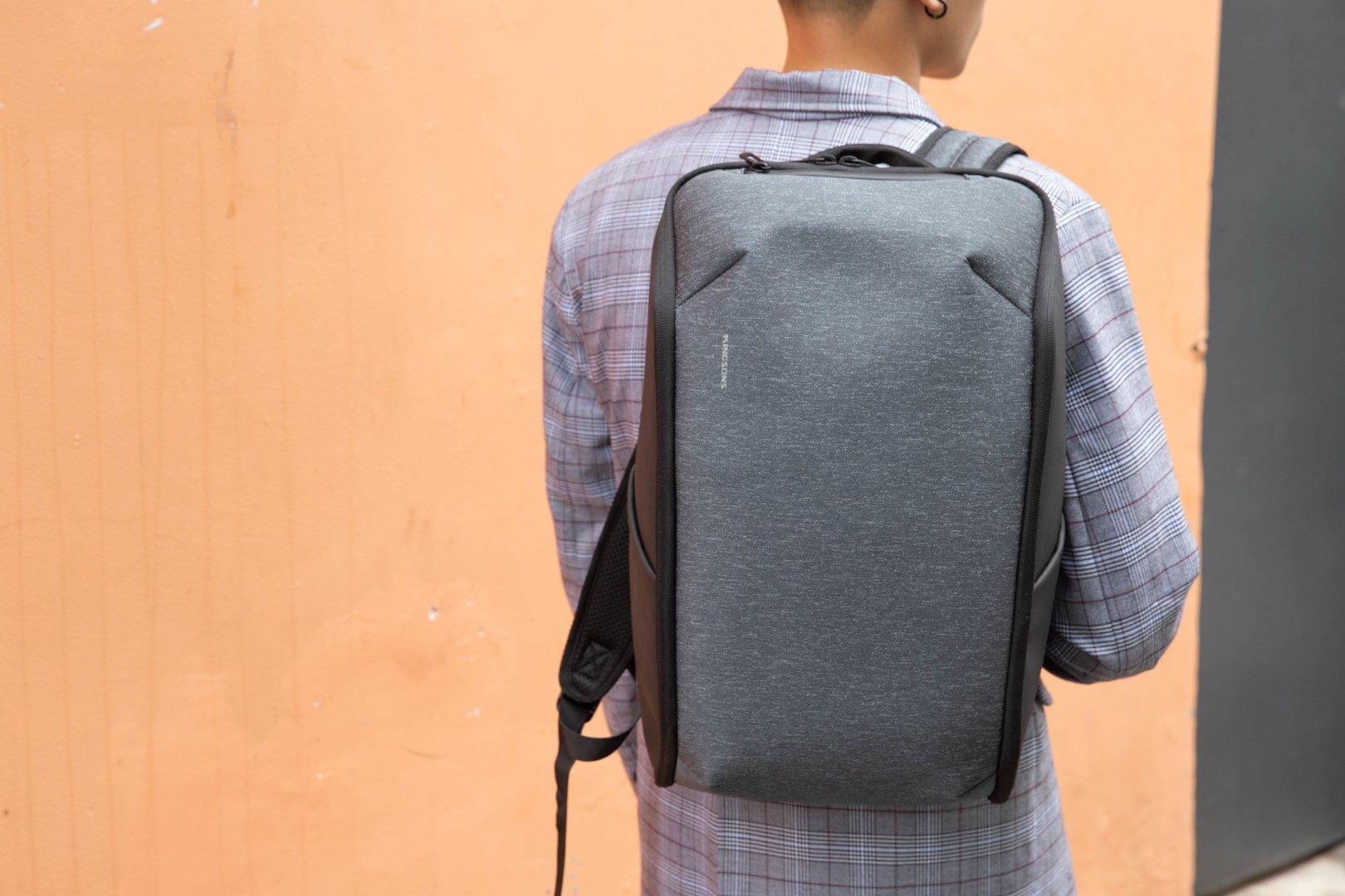 Ba lô laptop thông minh thiết kế phẳng - KINGSONS - Magic-Pack