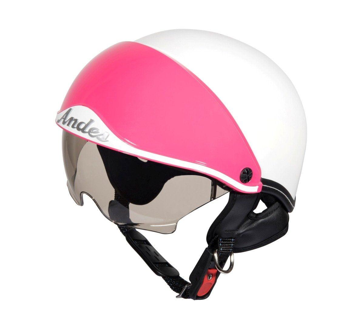 mũ bảo hiểm andes 139 trắng hồng